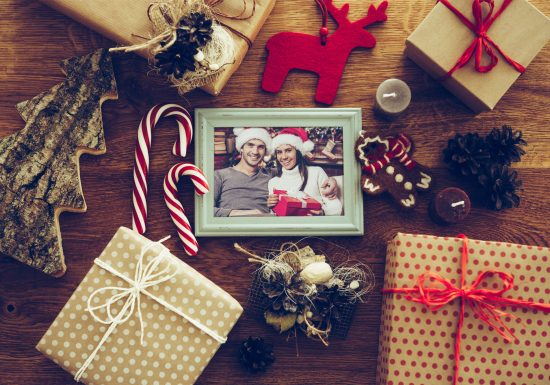 Weihnachtsgeschenke mit Fotos treffen die Beschenkten mitten ins Herz